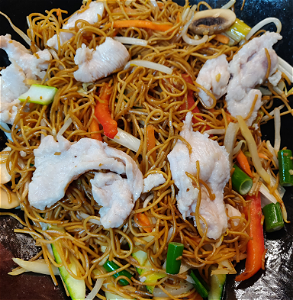 Foto Stirfried noodles chicken